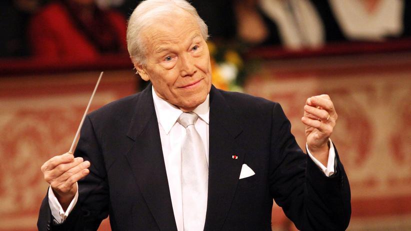 """Frankreich: Georges Prêtre dirigiert die Wiener Philharmoniker: """"Ich bin Franzose, aber mein Herz gehört Wien"""", sagte er einmal. (Archivbild)"""
