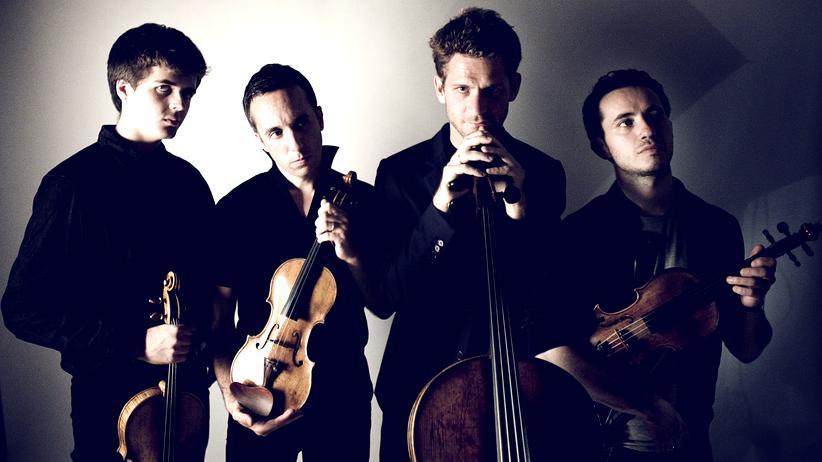 Quatuor Ébène: Wir sind vier: Adrien Boisseau, Pierre Colombet, Raphaël Merlin und Gabriel Le Magadure (v. l. n. r.)