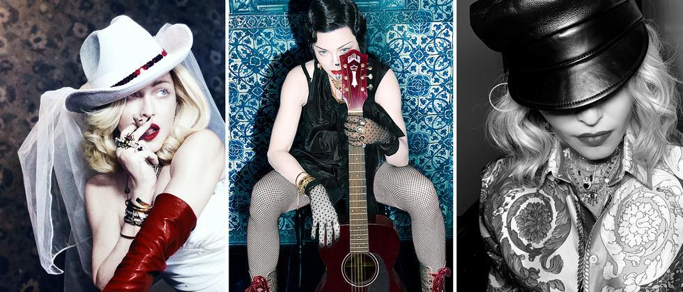 Madonna: Sie trägt die ganze Last des Erdballs auf ihren Schultern, schubidu