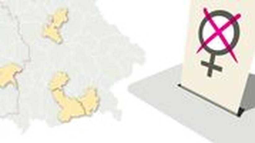 Deutschlandkarte: Frauen mit Direktmandat