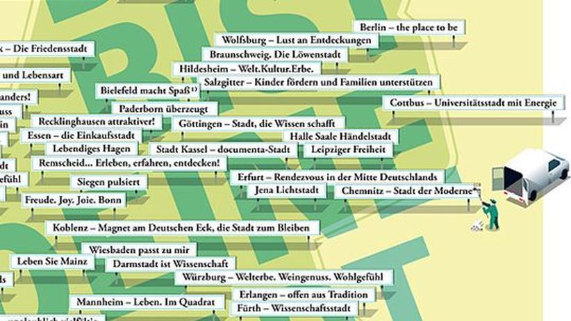 """Deutschlandkarte: Von """"Sailing City"""" bis """"Green City"""""""