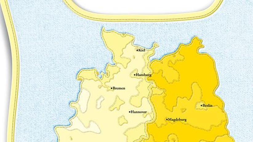 Deutschlandkarte: Nichteheliche Kinder