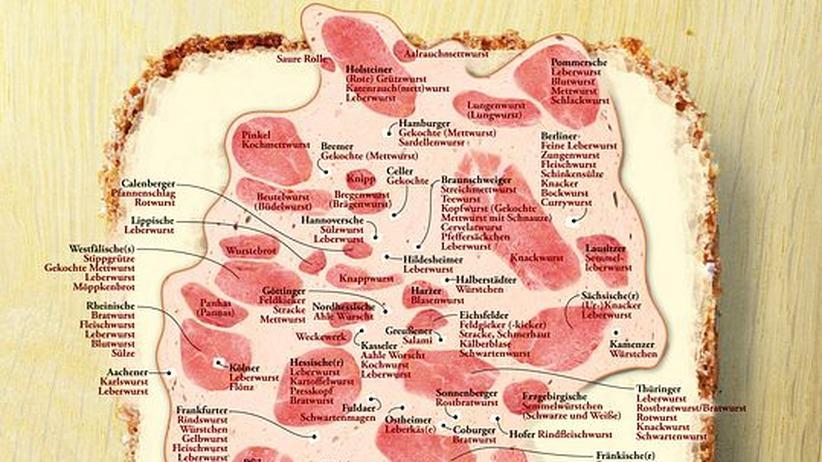 Deutschlandkarte: Die Wurst-Republik