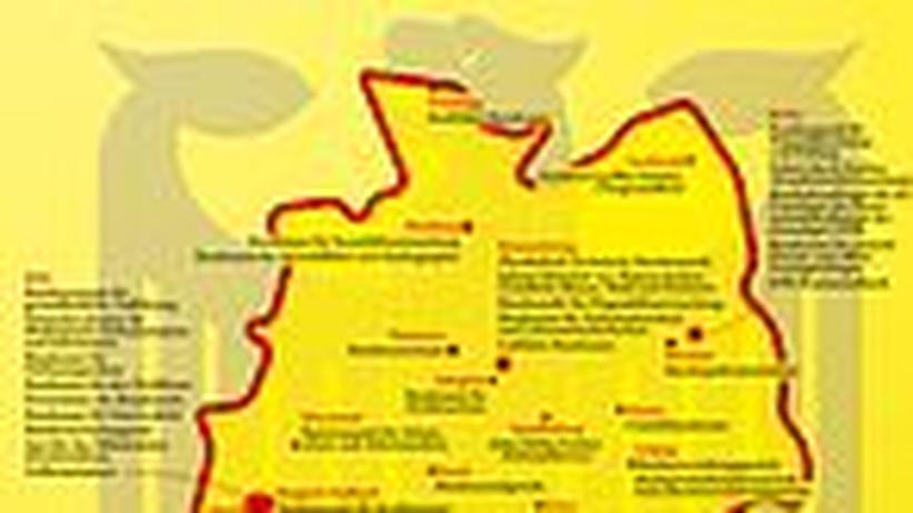Deutschlandkarte: Heimat der Bundesbehörden