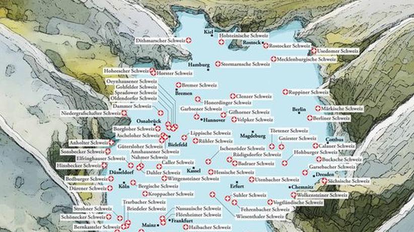 Deutschlandkarte: Schweizen