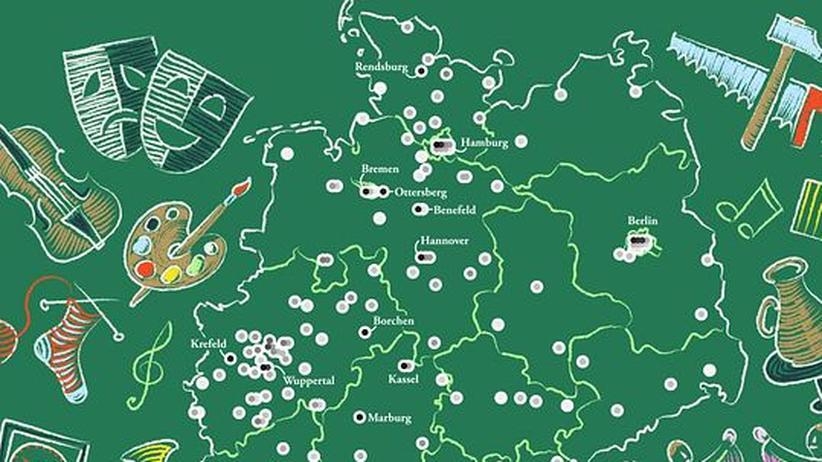 Deutschlandkarte: Waldorfschulen