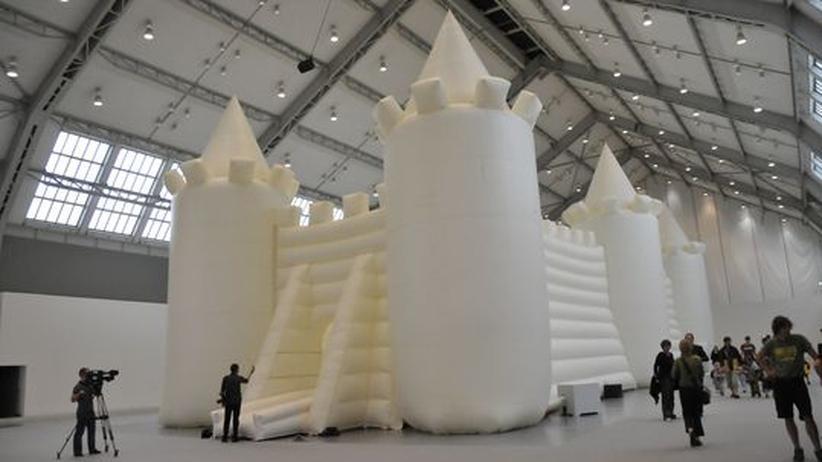 Installation in Hamburg: Hüpfen als Kunstform