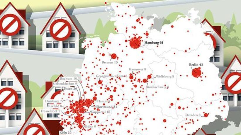 Deutschlandkarte: Street-View-Einsprüche