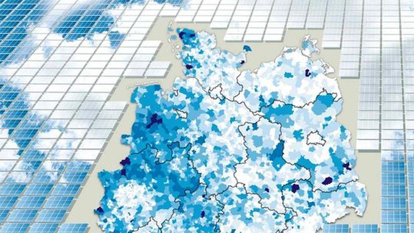 Deutschlandkarte: Wo es die meisten Solardächer gibt
