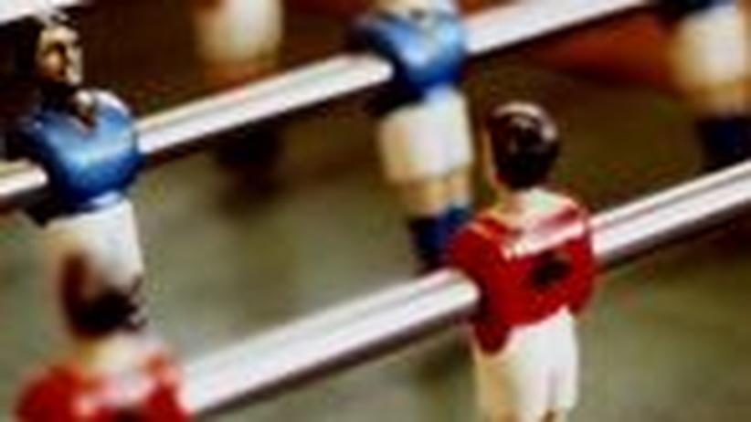 Tischfussball: Was zählt, is' auf'm Tisch