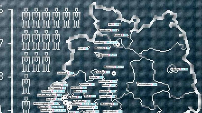 Deutschlandkarte: Dax-Vorstände