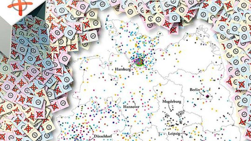 Deutschlandkarte: Bürgerbegehren