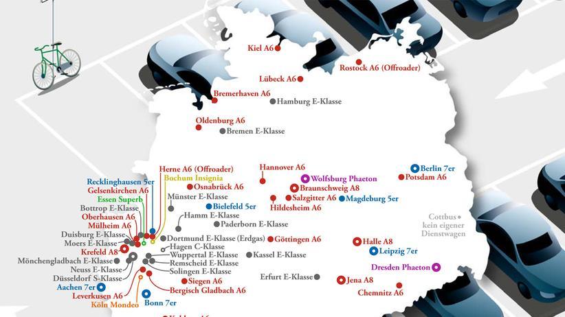 Deutschlandkarte: In Amt und Würden und Dienstwagen