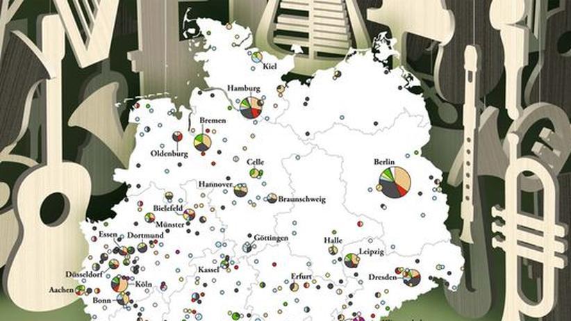 Deutschlandkarte: Instrumentenbauer