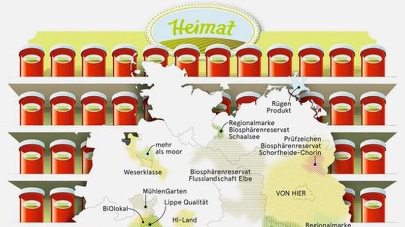 Deutschlandkarte: Wo die Heimat gut schmeckt