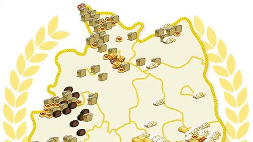 Deutschlandkarte: Besondere Backwaren