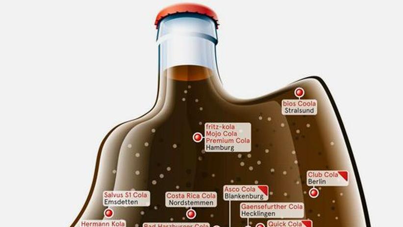 Deutschlandkarte: Colasorten