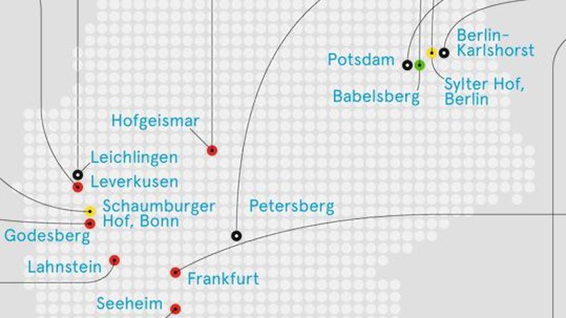 Deutschlandkarte: Politische Kreise
