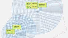Deutschlandkarte: Facebook-Partys