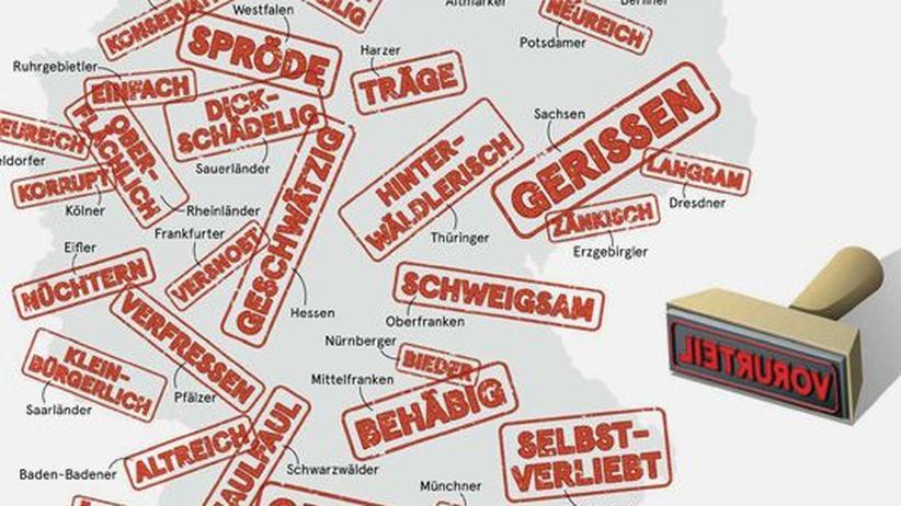 Deutschlandkarte: Negative Vorurteile