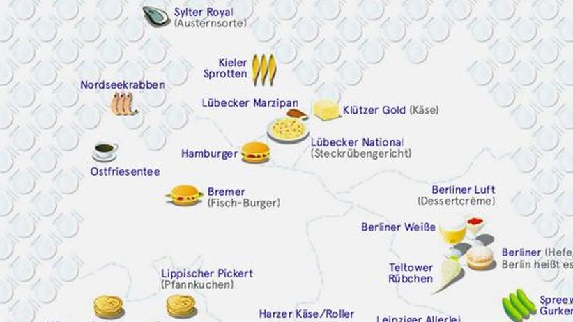 Deutschlandkarte: Essen, nach Orten benannt