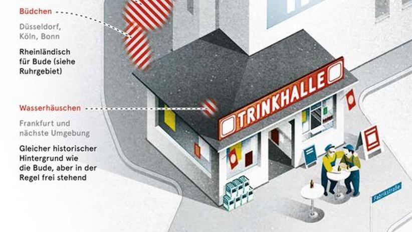 Deutschlandkarte: Trinkhallen