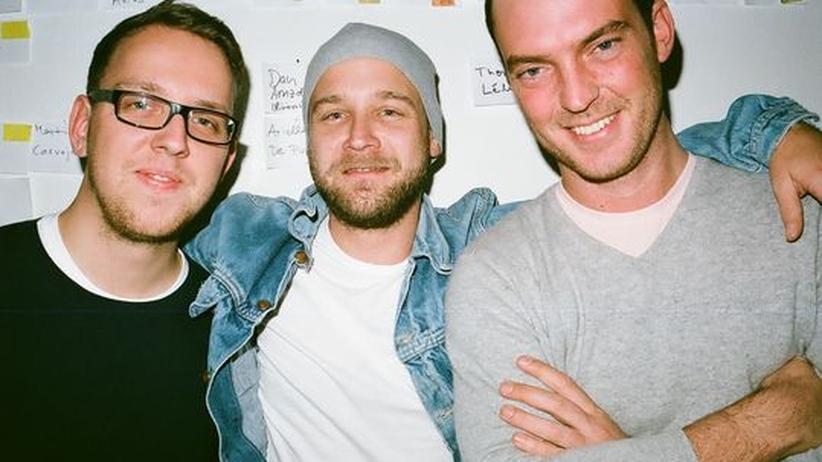 """Wohndesign-Blog: Die """"Freunde von Freunden""""-Gründer Torsten Bergler, Frederik Frede und Timmi Seifert (v.l.n.r.)"""