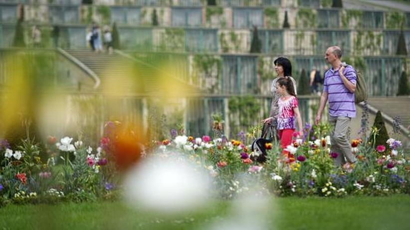 Gartengestaltung: Der Park von Sanssouci in Potsdam wurde nach dem Vorbild englischer Landschaftsgärten gestaltet.