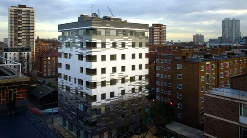 Das hölzerne Stadthaus im Londoner Stadtteil Hackney