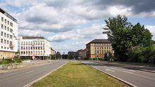Die Straße der Republik in Eisenhüttenstadt