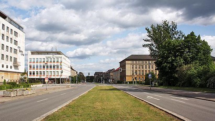 Eisenhüttenstadt: Die Straße der Republik in Eisenhüttenstadt