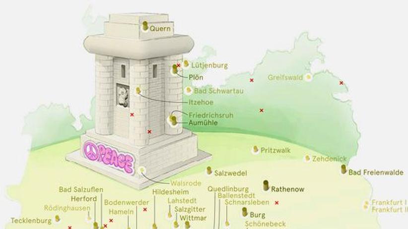 Deutschlandkarte: Bismarck-Türme
