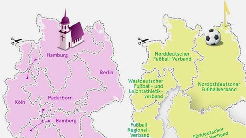 Deutschlandkarte: Unbekannte Grenzen