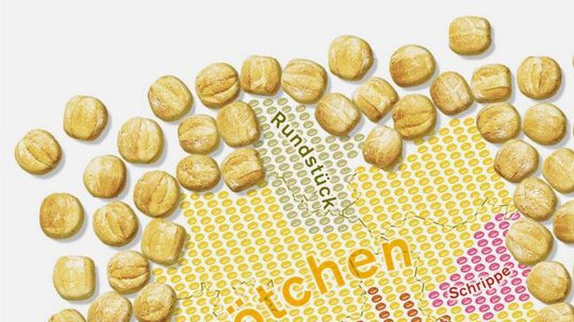 Deutschlandkarte: Brötchen, Wecken, Schrippen