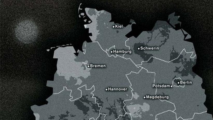 Deutschlandkarte: Der dunkelste Winter