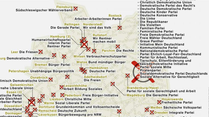 Deutschlandkarte: Parteien