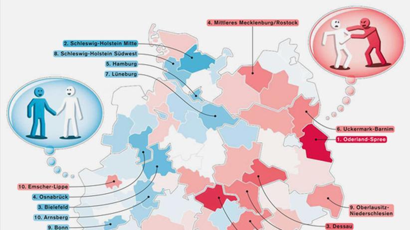Serie Deutschlandkarte: Vertrauen