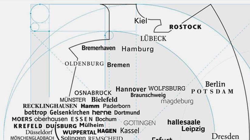 Serie Deutschlandkarte: Schrifttypen