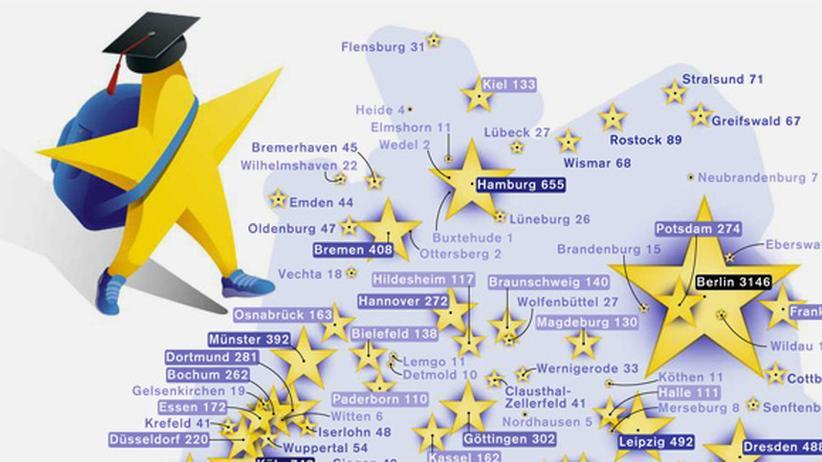 Serie Deutschlandkarte: Erasmus-Studenten zieht es nach Berlin