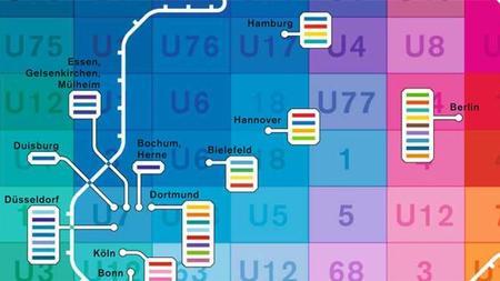 Deutschlandkarte Farben Der U Bahn Linien Zeit Online