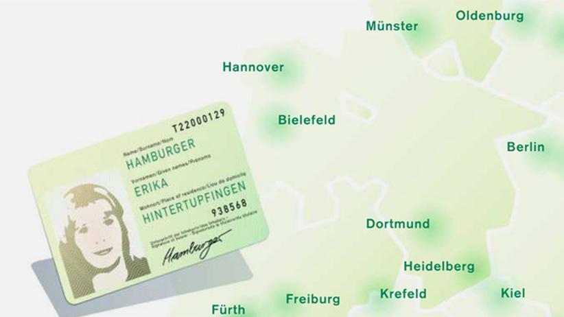 Deutschlandkarte: Familien- und Städtenamen
