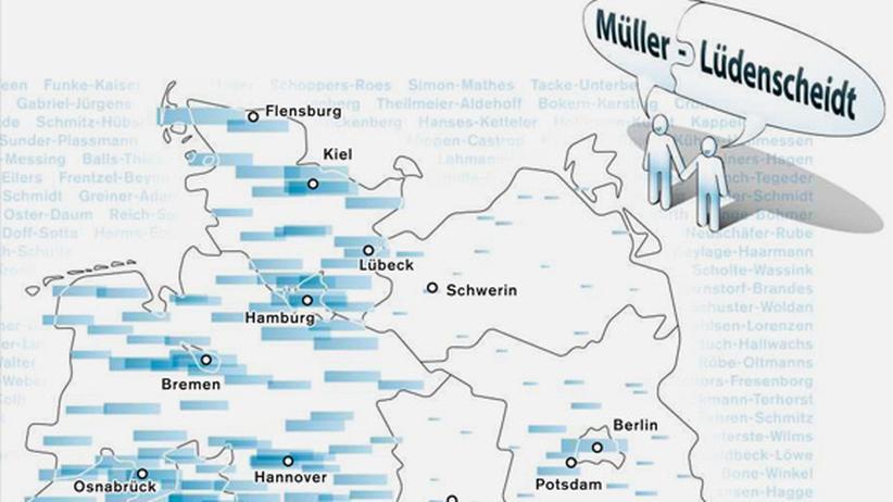 Serie Deutschlandkarte: Doppelnamen