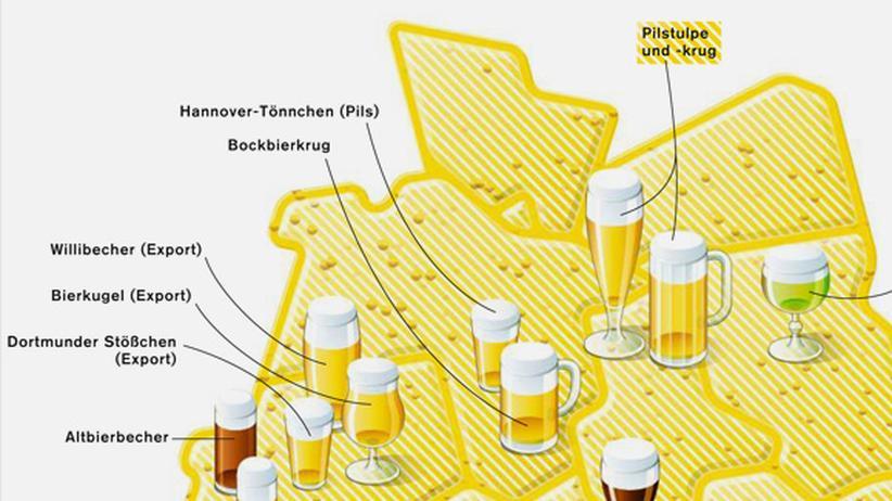 Serie Deutschlandkarte: Bierkugel, Stößchen oder Willibecher?