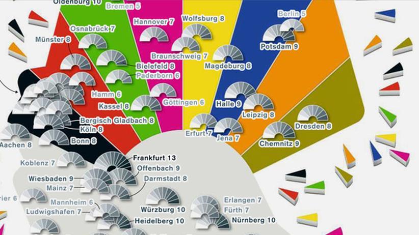 Serie Deutschlandkarte: Parteien in Rathäusern