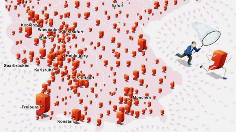 Deutschlandkarte: Klicken Sie auf das Bild, um die Karte zu vergrößern