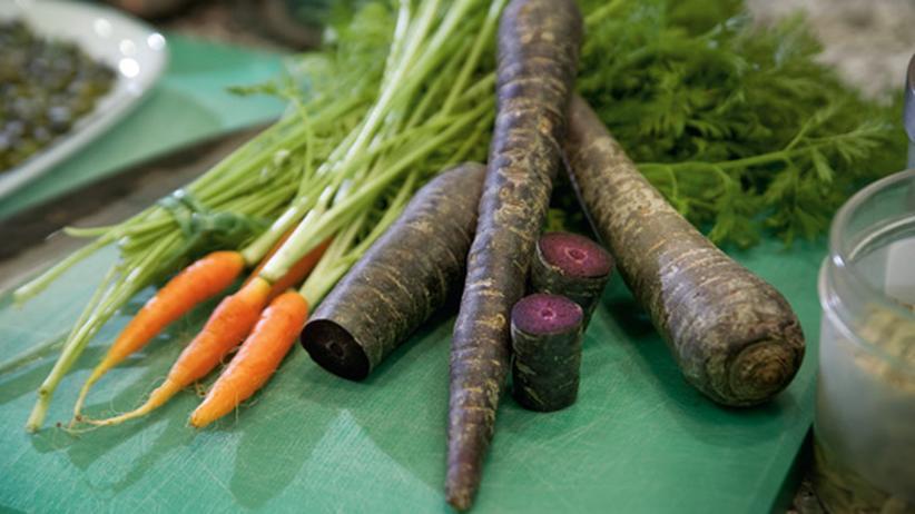 Wochenmarkt: Graue Tage, violette Karotten