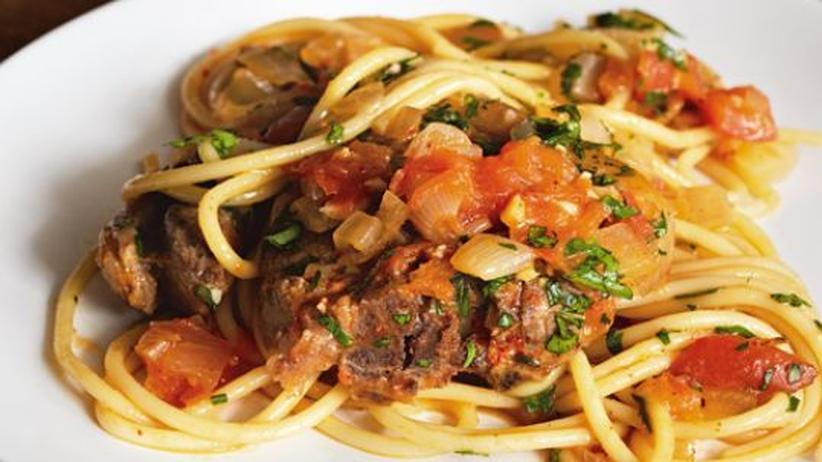 Wochenmarkt: Spaghetti mit Lamm