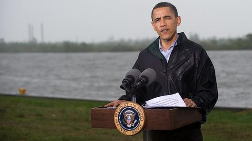 Gesellschaftskritik: US-Präsident Barack Obama besucht die vom Öl bedrohte Küste in Venice im Bundesstaat Louisiana