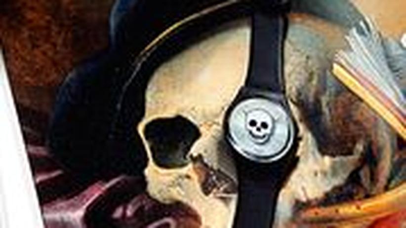 """Stilkolumne: Jedenfalls günstiger als Kunst für die Wand: Swatch """"You Stop You Die"""", entworfen vom chilenischen Bildhauer Iván Navarro"""