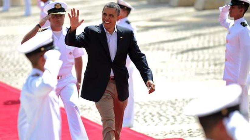 Kugelsichere Mode: Bewegt sich Barack Obama in der Öffentlichkeit, wie hier auf Staatsbesuch in Kolumbien, trägt der US-Präsident kugelsichere Kleidung.